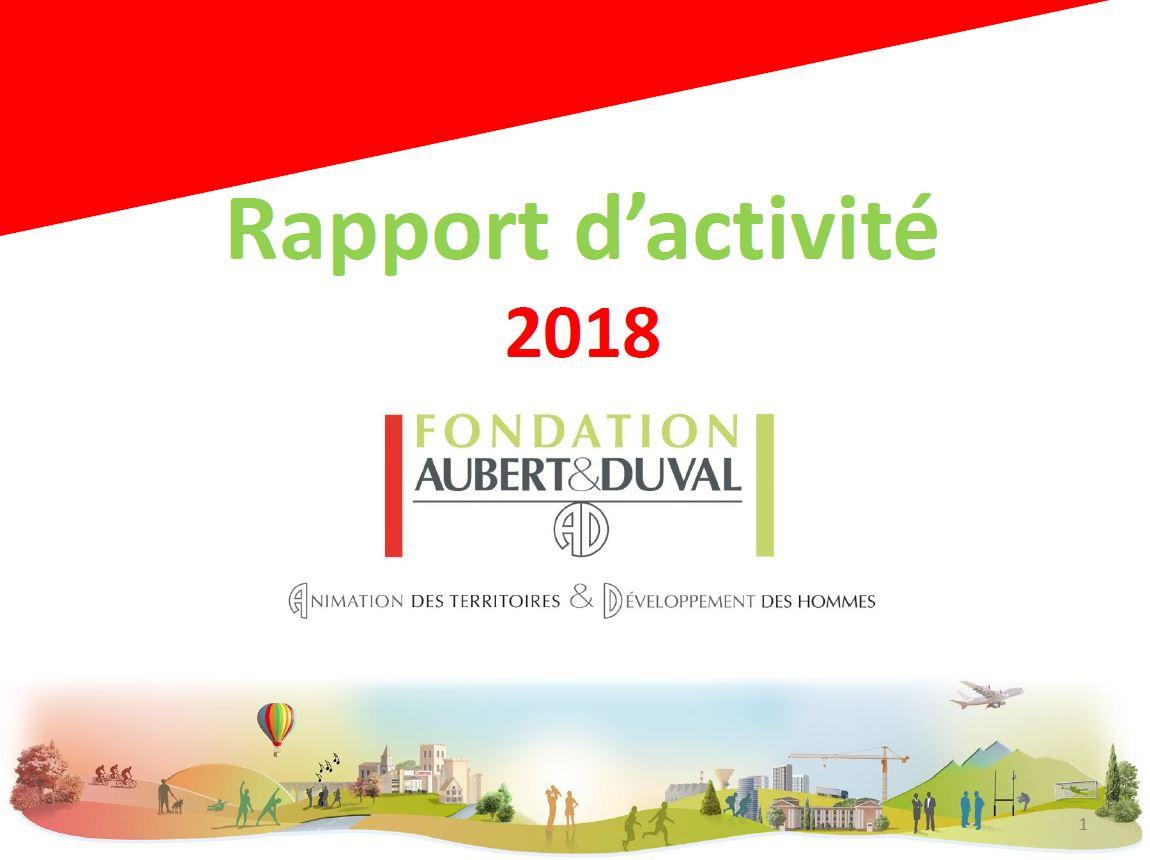 Fichier Rapport d'activité 2018