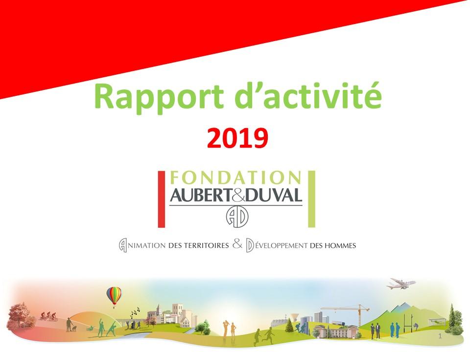 Fichier Rapport d'activité 2019
